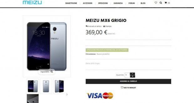 Meizu MX6 Grigio   Meizumart