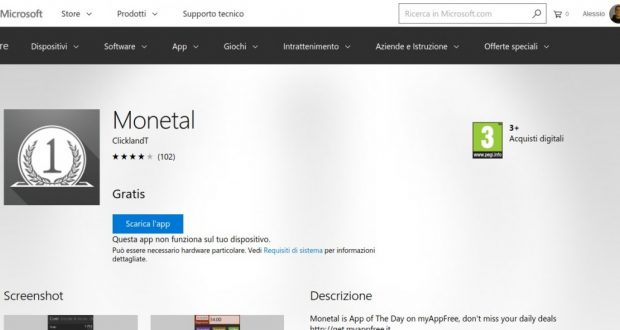 Monetal – App di Windows in Microsoft Store