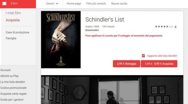 Schindler s List   Film su Google Play