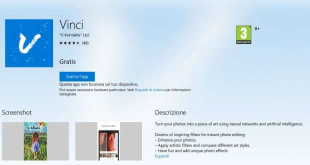 Vinci – App di Windows in Microsoft Store