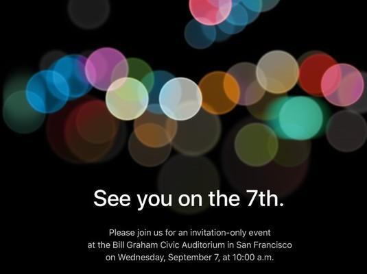 iPhone 7 invito ufficiale