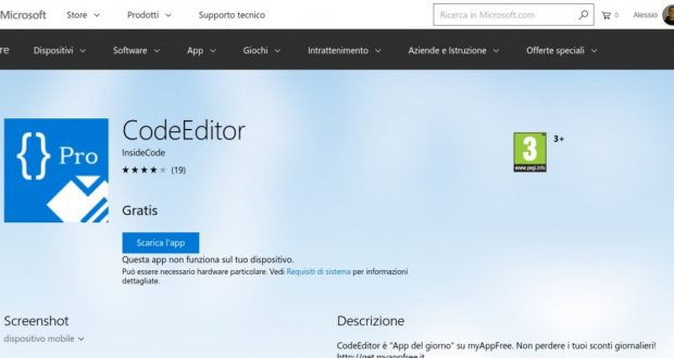 CodeEditor – App di Windows in Microsoft Store