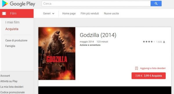 Godzilla  2014    Film su Google Play