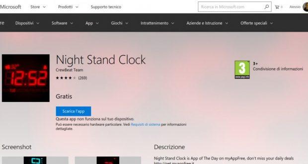 Night Stand Clock – App di Windows in Microsoft Store