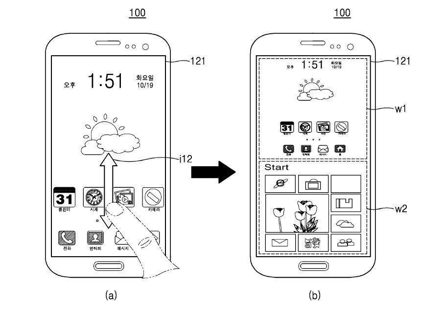 Samsung brevetto smartphone Android Windows