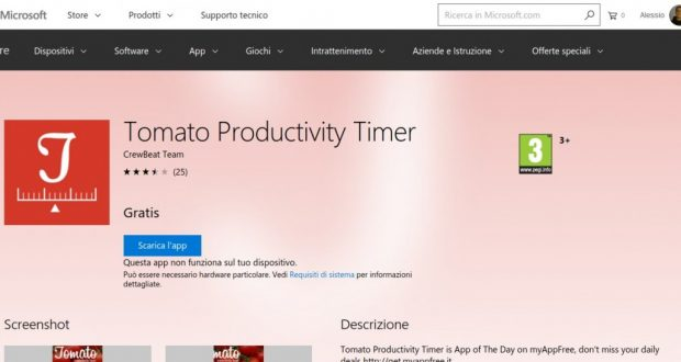 Tomato Productivity Timer – App di Windows in Microsoft Store