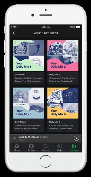 spotify music daily mix