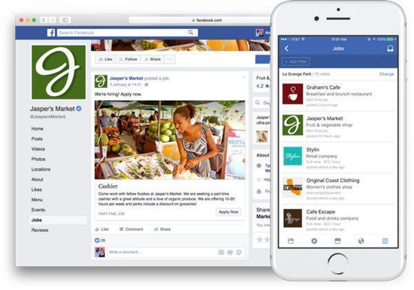 Facebook annunci di lavoro