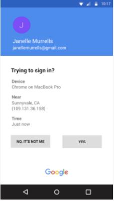 Google 2FA miglioramenti notifiche