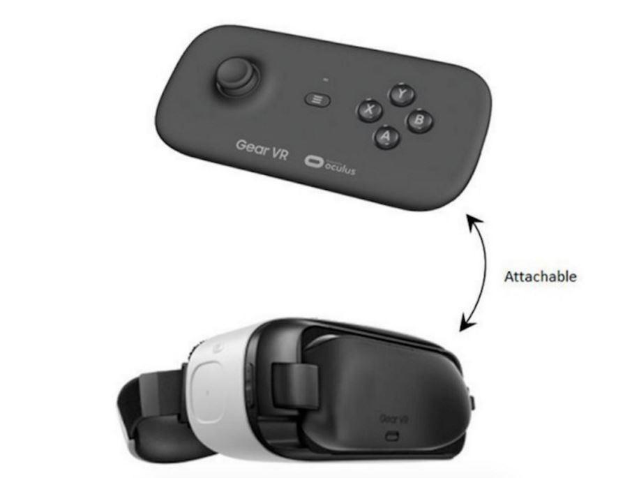 Samsung Gear VR controller Bluetooth render