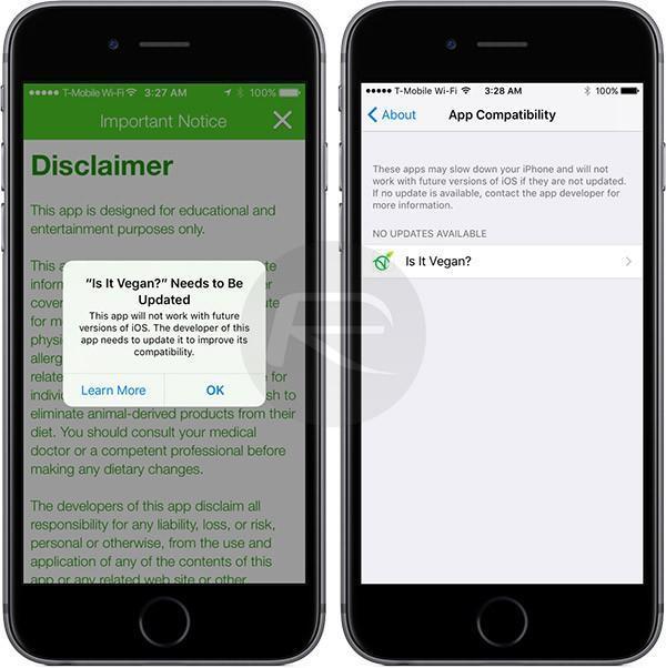 App Coaptibility iOS 11