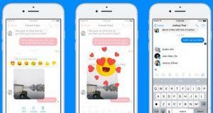 Facebook Messenger Reazioi e Menzioni