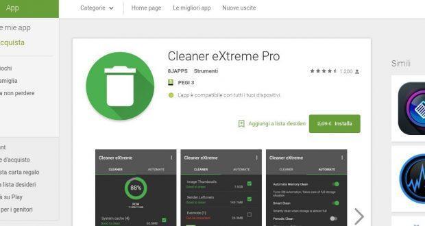 Cleaner extreme pro per android gratis per un tempo limitato su google play store - Rubrica android colori diversi ...