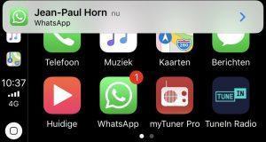 WhatsApp Apple CarPlay