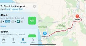 Apple Maps Transit Roma