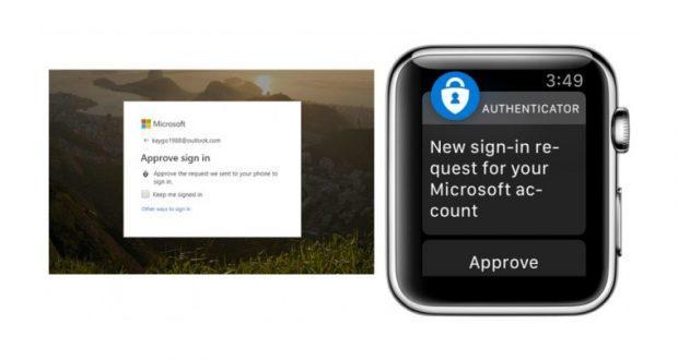 Microsoft Authenticator per Apple Watch