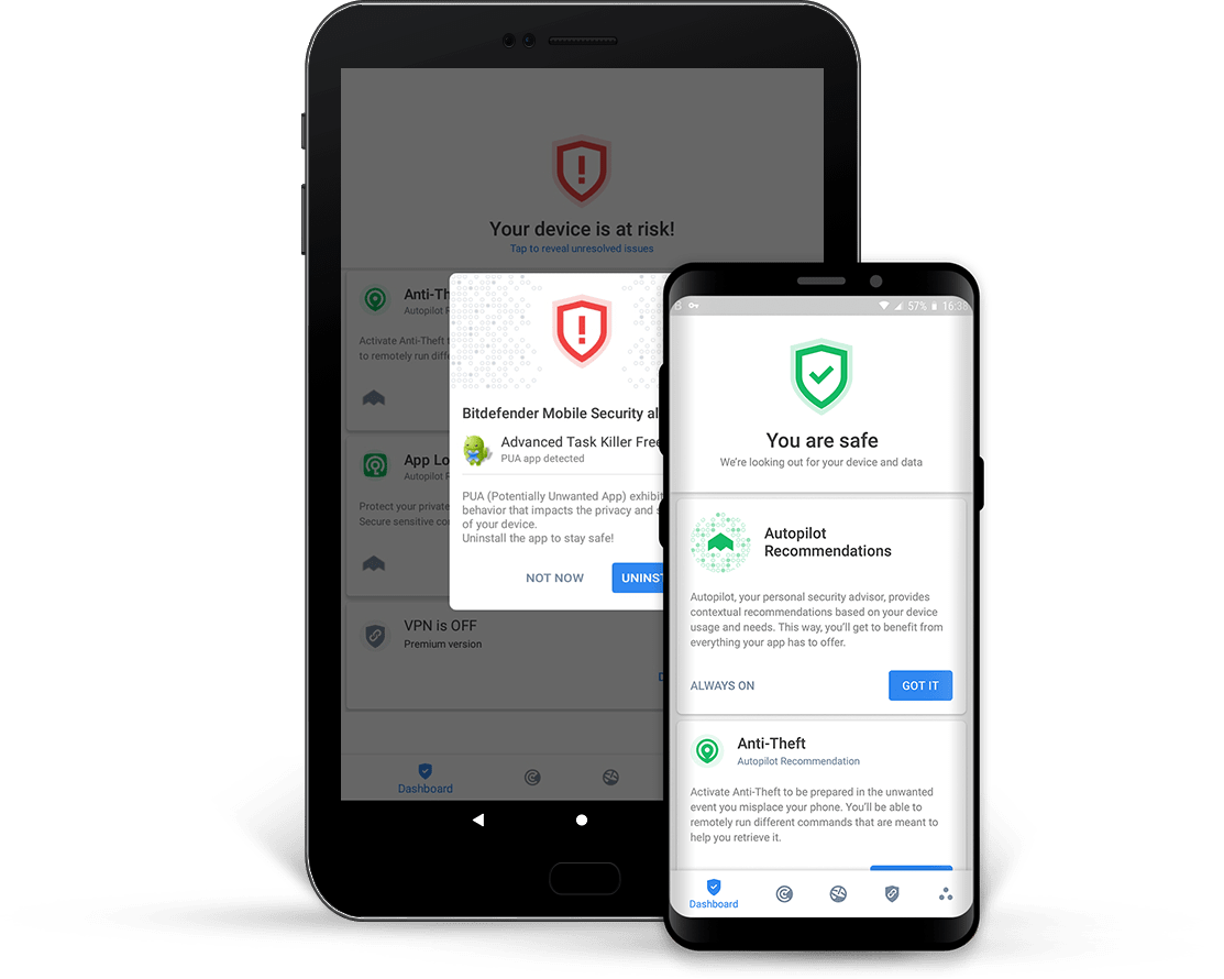 Bitdenfender Mobile Security per Android VPN
